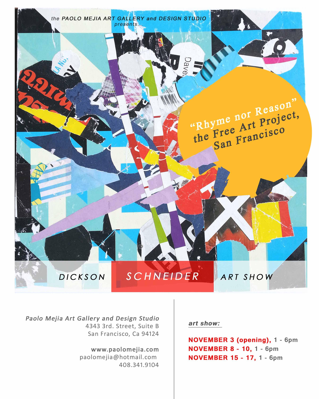 Dickson Schneider Solo Art Show Flyer